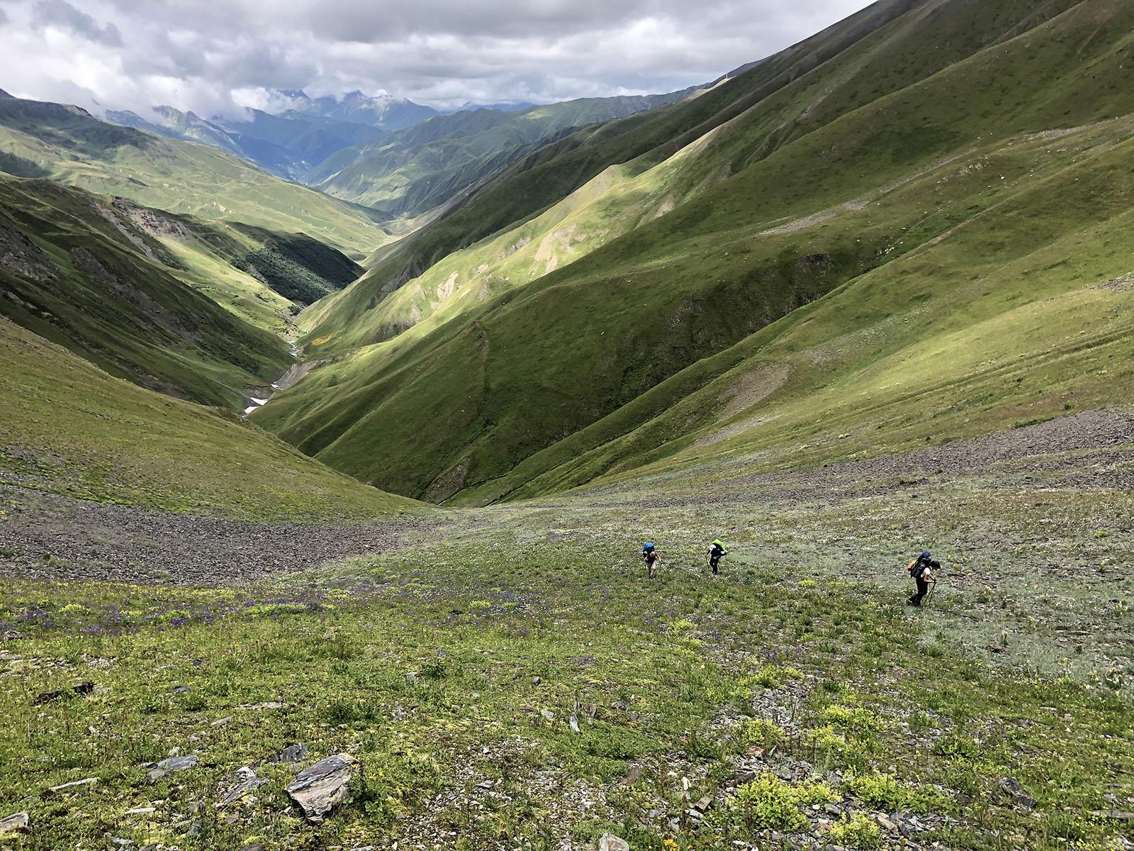 Подъем на перевал Закка