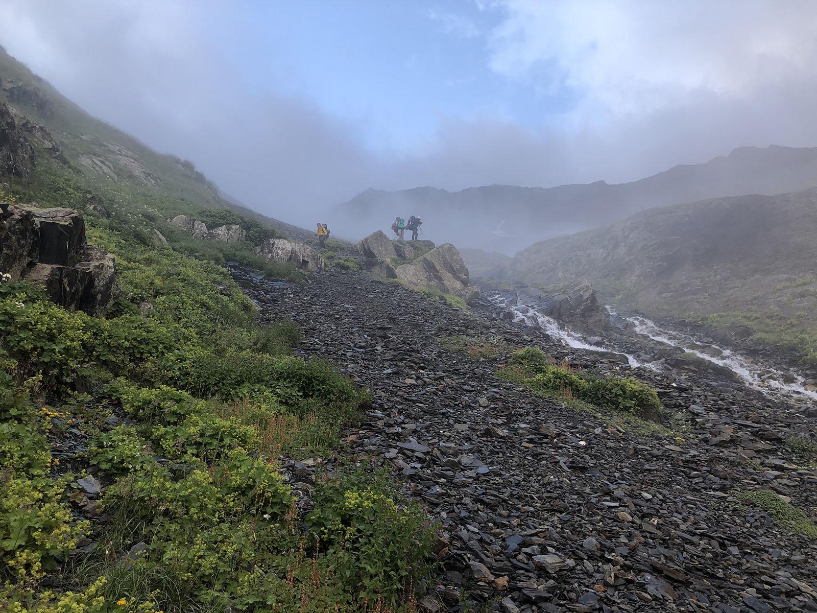 На спуске к реке Дзамарашдон