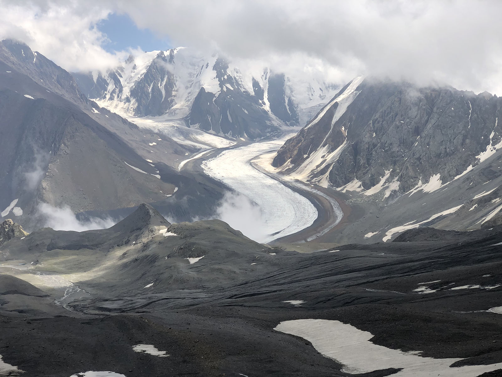 Вид на ледник Мидаграбин