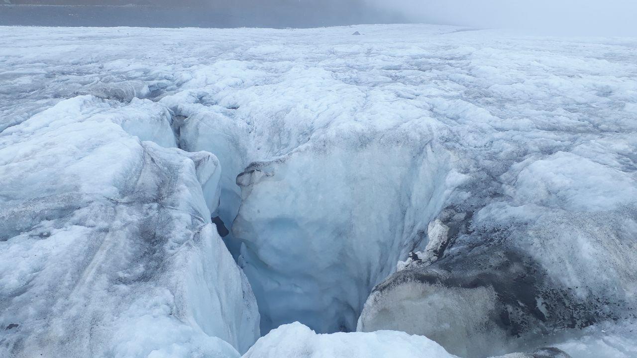 на леднике Мидаграбин